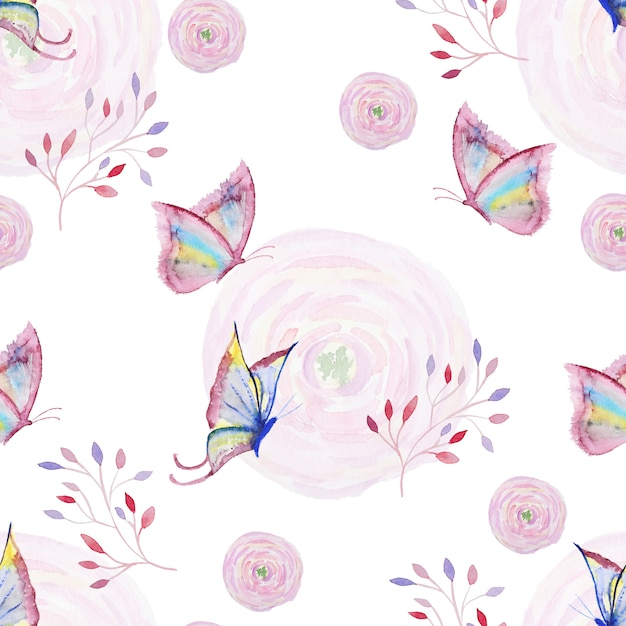 Seamless watercolor pattern Premium Photo