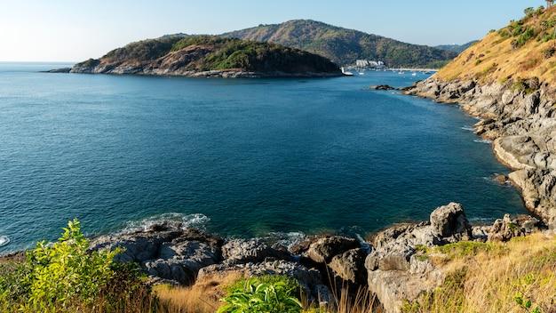 Seashore with tropical sea in beautiful island Premium Photo