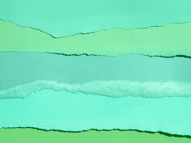 Seawater abstract composition with colour papers Free Photo