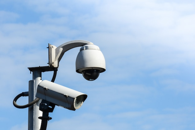 Security cctv camera for transportation Premium Photo