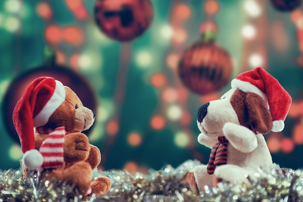 Selective focus shot of christmas themed dolls Free Photo