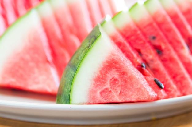 Selective focus watermelon slice Free Photo