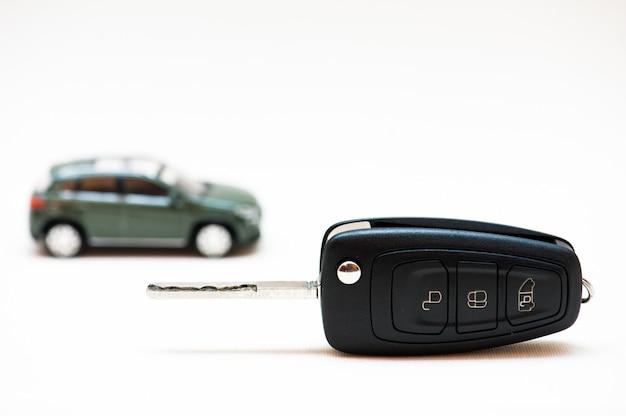 Selling a car. the key,  little car Premium Photo