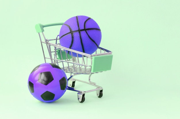 Selling sports equipment. predictions for matches. sports betting Premium Photo