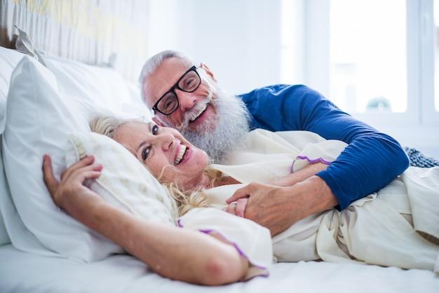 Senior couple lifestyle moments at home Premium Photo