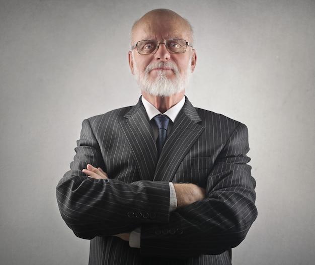 Senior decent businessman Premium Photo
