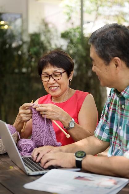 Senior people couple love concept Premium Photo