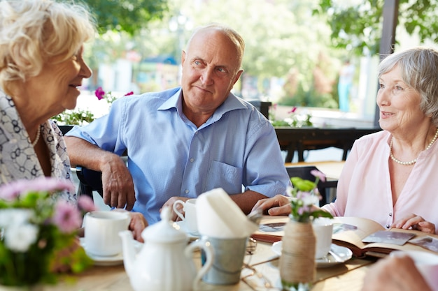 Seniors having good time together Free Photo