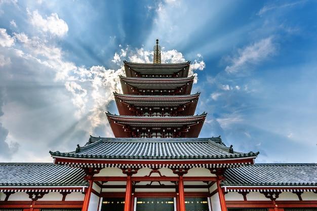 Храм сэнсо-дзи в асакуса, токио, япония. Бесплатные Фотографии