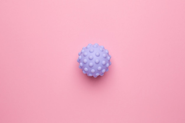 Sensory ball for baby and kids,massage soft textured ball, develop baby's tactile senses toys for infant touch hand top view Premium Photo