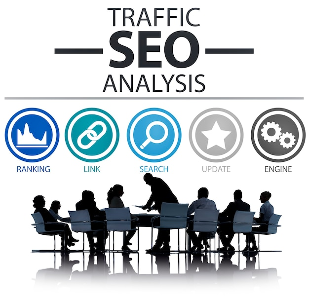 Seo analysis on business meeting Free Photo