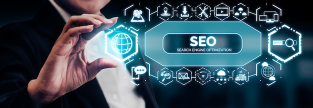 Seo search engine optimization business concept Premium Photo