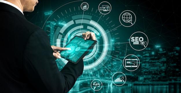 Seo search engine optimization business concept Premium Photo