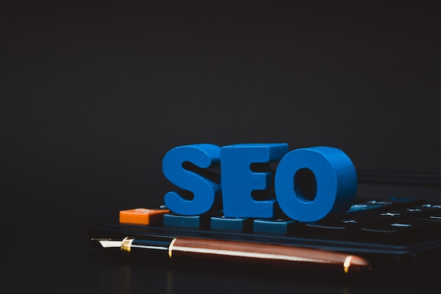 Seo text alphabet for search engine optimization concept Premium Photo