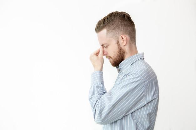 Профиль пользователя serious young man thinking deep Бесплатные Фотографии