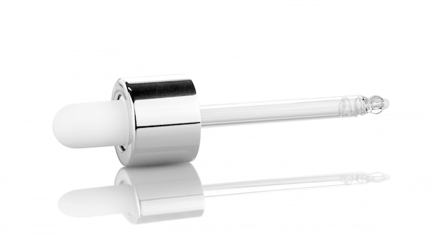 Serum droping pipe for cosmetic products isolated on white Premium Photo