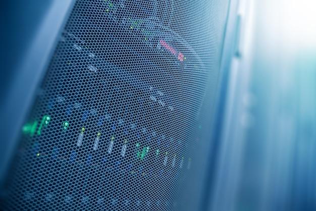 Server internet datacenter room, network Premium Photo