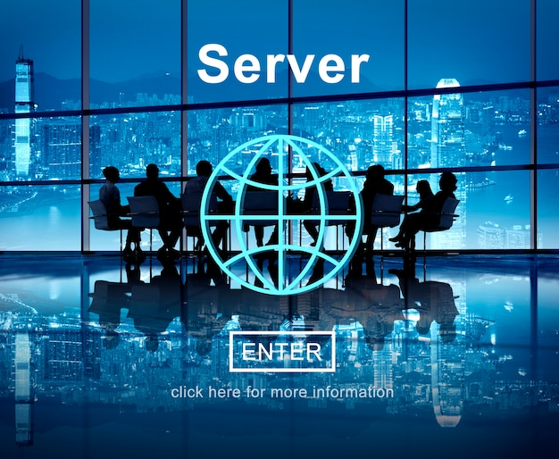 Server network computer database technology concept Free Photo