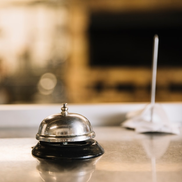 Service bell on table in restaurant Free Photo
