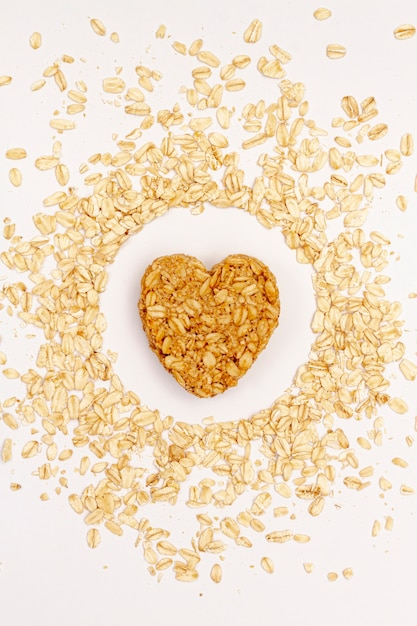 Sesame seeds with cereals top view Free Photo