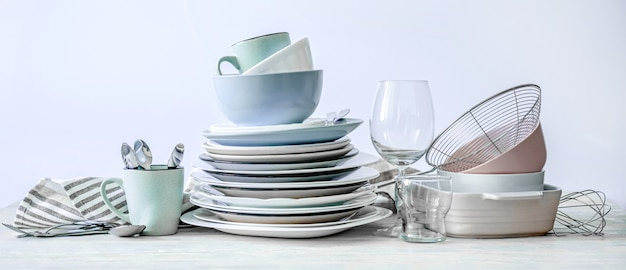 Set of beautiful kitchenware Premium Photo