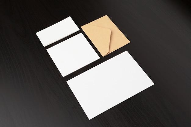 Set of branding stationery elements Premium Photo