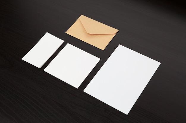 Set of branding stationery Premium Photo