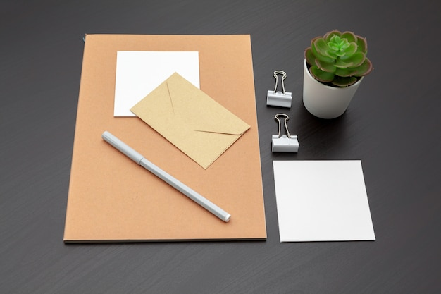 Set of branding stationery Premium Photo