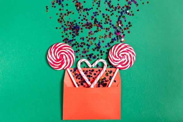 Set di bastoncini di zucchero in busta Foto Gratuite