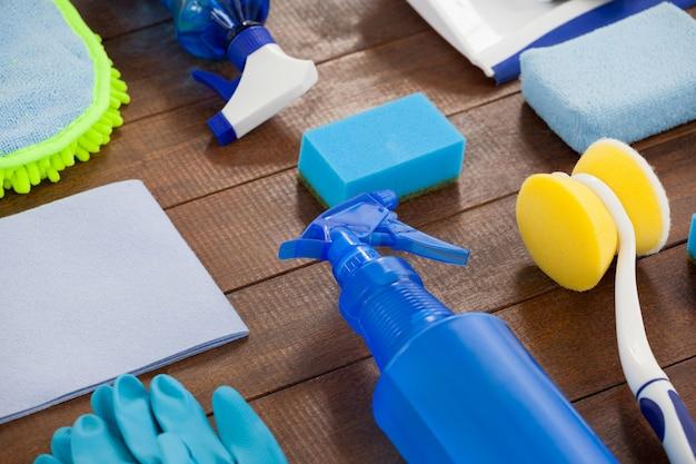 Set of cleaning equipment Premium Photo