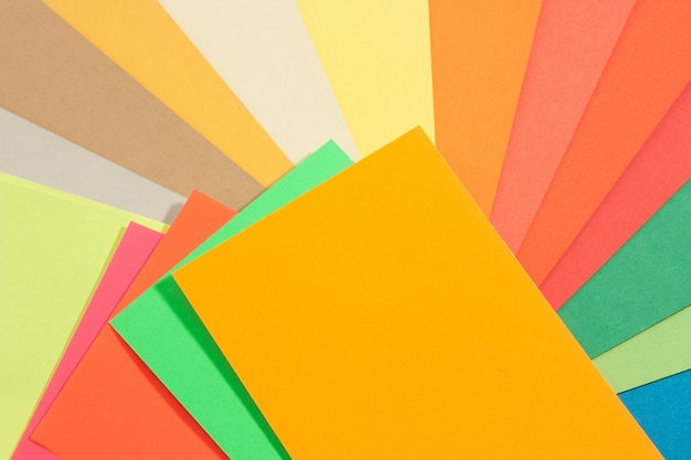 Set of colored papers Free Photo