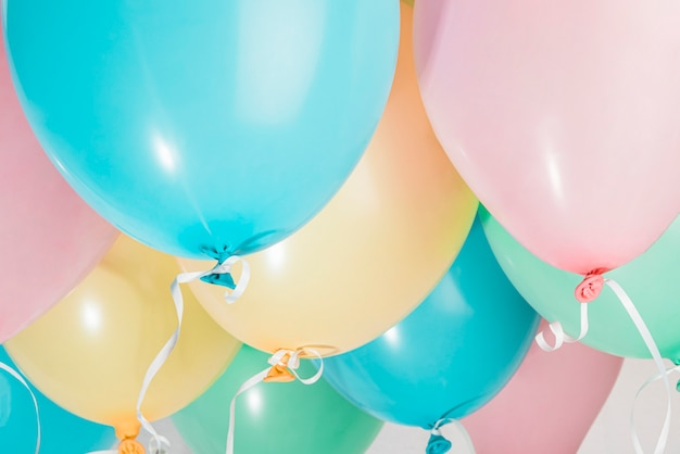 Set of colorful party balloons Free Photo