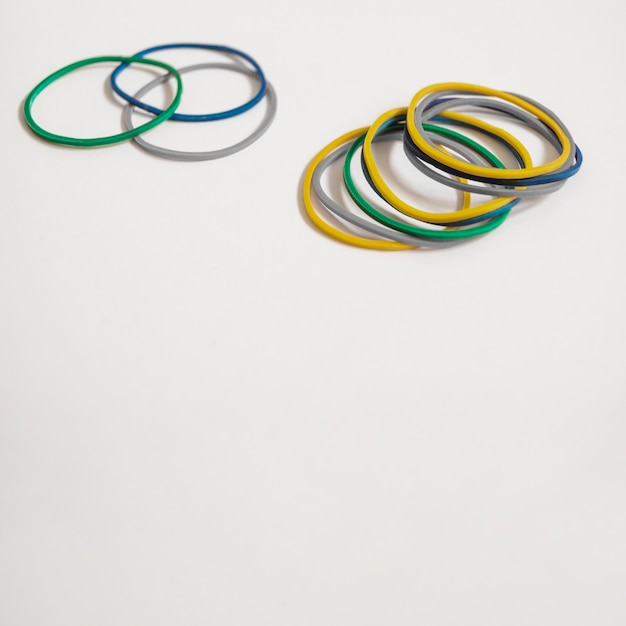Set of colorful rubber bands Free Photo