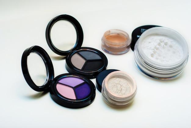 Set of decorative cosmetics Premium Photo