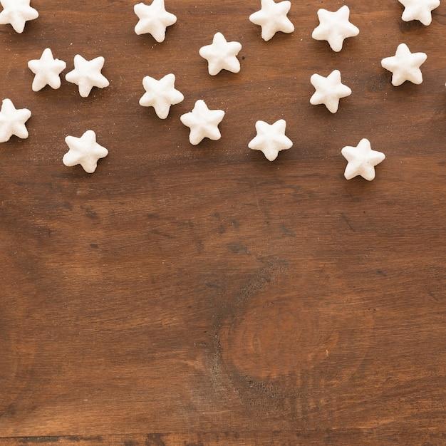 Set of decorative white stars Premium Photo