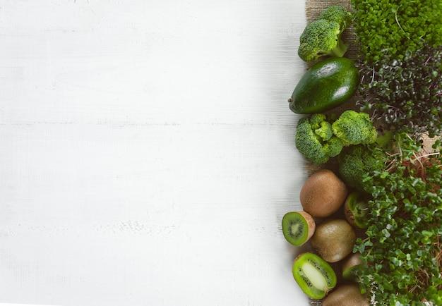 Set of green vegetables Premium Photo