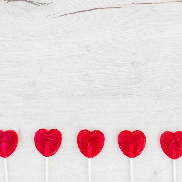 Set of lollipops on wands Free Photo