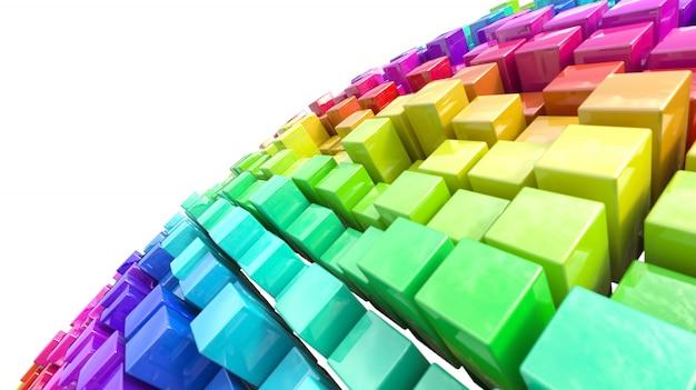 مجموعه ای از قطعات در رنگ های مختلف