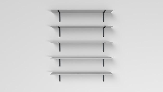 Набор полок, изолированные на стене Бесплатные Фотографии