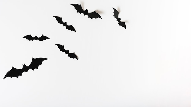 Set of paper bats Free Photo