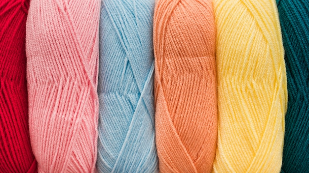 Set of soft yarn Free Photo