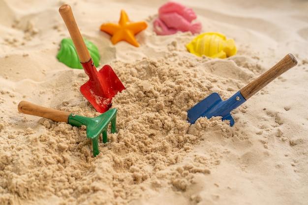 Набор совка rake shovel home garden пляжная игрушка на песке Premium Фотографии