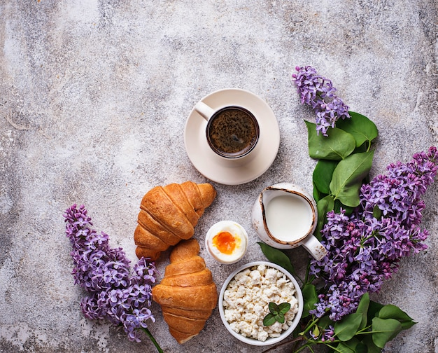 Set of various healthy breakfast Premium Photo