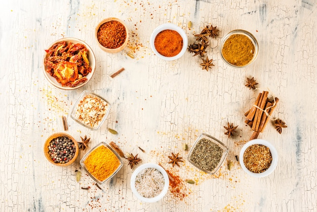 Set of various spices Premium Photo