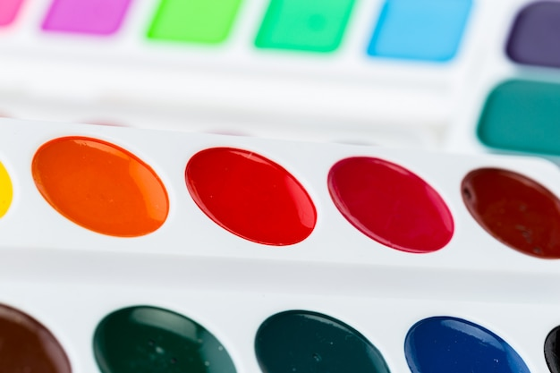 Set of watercolor paints Premium Photo