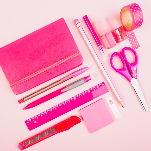 Set of women office supplies Free Photo