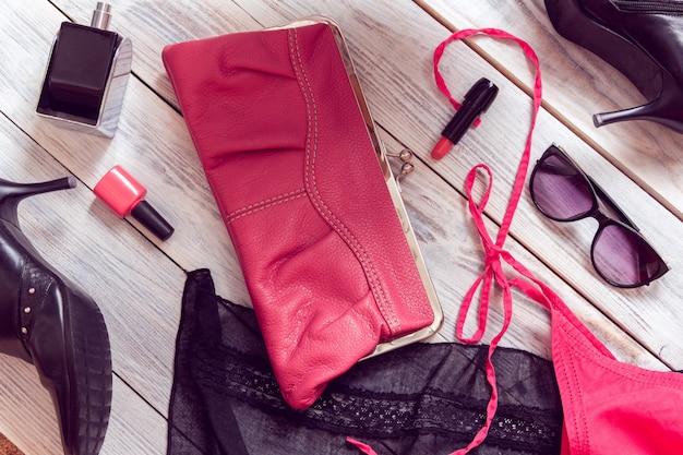 Set of women's accessories Premium Photo