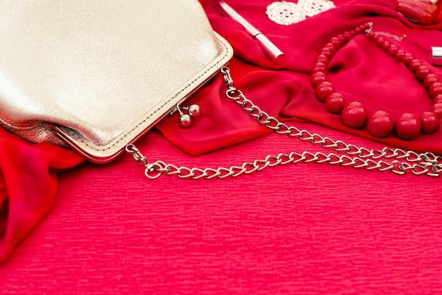 A set of women's accessories. Premium Photo