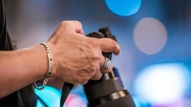 Setting shutter speed in camera mode Premium Photo