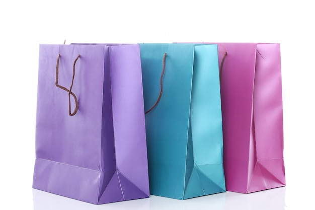 Several colorful shopping bags Free Photo